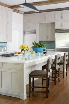 Dual Stainless Steel Refrigerators - Transitional - Kitchen
