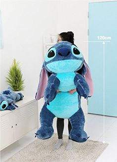 Amazon.com: Disney Stitch 120cm(47.2inch) Lilo and Stitch Lying Big Size Doll: Toys & Games