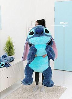 Amazon.com: Disney Stitch 120cm(47.2inch) Lilo and Stitch Lying Big Size Doll: Toys & Games