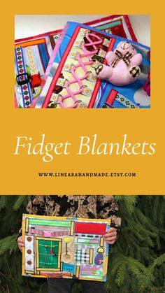 Fidget Blanket | Dementia Mat | Autistic Toy by Linearahandmade Etsy Handmade, Handmade Items, Fidget Blankets, Activity Mat, Children Activities, Dementia Activities, Sensory Toys, Fidget Toys