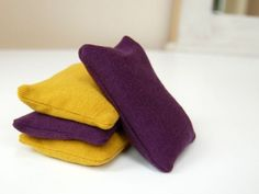 DIY hand warmers - take piece of material or old t-shirt, sew 3 edges together, fill 3/4 with rice or beans, sew to close.. then simply microwave a couple of mins to warm.