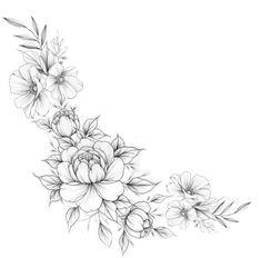 Noir Tattoo, Tattoo Fleur, Arm Tattoo, Cute Tattoos For Women, Shoulder Tattoos For Women, Wrist Tattoos For Women, Band Tattoo Designs, Flower Tattoo Designs, Flower Wrist Tattoos