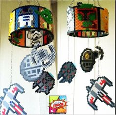 Check Out These Retro Inspired Perler Bead Mobiles From Madam FANDOM!