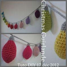 guirlande crochet DIY NOEL