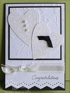 """another cute bride and groom heart card from an Australian blogger """"Stampin Cos Its Fun"""""""
