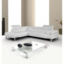 Domus Modern Sectional Sofa By Nicoletti Italy White Leather Sofas Italian