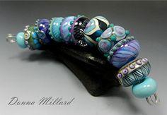 SRA HANDMADE LAMPWORK Glass Bead Set Donna Millard by DonnaMillard