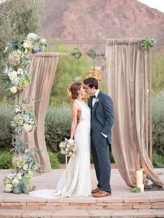 These unique wedding arches are so elegant! http://www.womangettingmarried.com/perfect-wedding-arch-every-style/