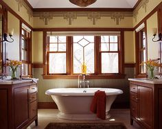 In this post we have compiled a collection of 21 stunning craftsman bathroom design ideas. Craftsman Style Bathrooms, Mission Style Bathroom, Home Remodeling, Mission Style Homes, Bathroom Styling, Craftsman Interior, Modern Baths, Arts And Crafts Interiors, Craftsman Style Homes
