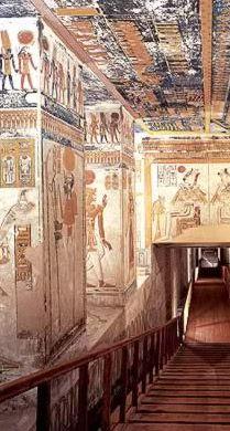 ramesses vi tomb passage More More