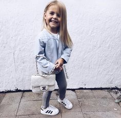 Lil fashionista via Tap the link now to see our super collection of accessories made just for you! Cute Little Girls Outfits, Toddler Girl Outfits, Little Girl Fashion, Toddler Fashion, Kids Fashion, Trendy Kids, Stylish Kids, Cute Kids, Cute Babies