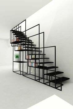 Square Staircase | Design concept for a private cient, London, UK | by Design + Weld, UK | 2015