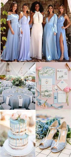Budget Wedding, Wedding Themes, Wedding Colors, Wedding Decorations, Blue Bridesmaids, Wedding Bridesmaid Dresses, Dream Wedding, Wedding Day, Beautiful Dresses
