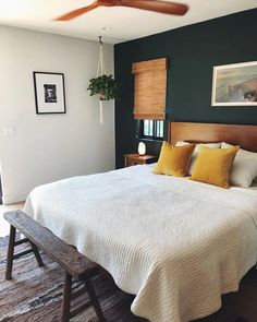 Bedroom Green, Bedroom Colors, Home Decor Bedroom, Modern Bedroom, Bedroom Ideas, Bedroom Signs, Pretty Bedroom, Stylish Bedroom, Diy Bedroom