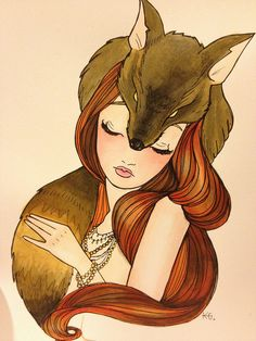 Fox Lady Print.... all of you who know him, know my Fox is a foxy lady.