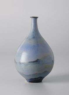 "Single-stem vase, ca. 1960Glazed earthenware. 8 1/4 in. (21 cm.) high. Underside signed in ink with ""NATZLER"" and with paper label with ""M628."""