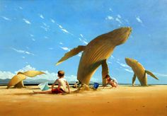 The Sand Sculptures by Jimmy Lawlor Double Exposition, Jimmy Lawlor, Sand Sculptures, Hyperrealism, Weird Creatures, Beautiful Drawings, Fantastic Art, Whimsical Art, Surreal Art