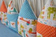 Купить Яркие бортики-домики в детскую кроватку с жирафиками - бортики в кроватку, домики, бортики-домики