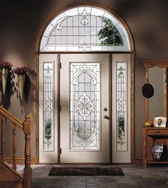 Make a grand entrance. Install custom stained glass windows for ...