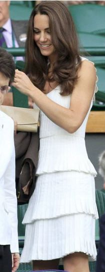 Kate Middleton or Duchess Kate -Dress by Temperley