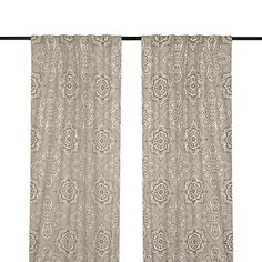 Tan Lapperine Curtain Panel Set, 108 In