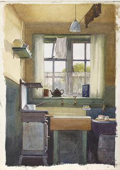 The Scullery 15 Dalson Road, by Frank Taylor Lockwood by Birmingham Museum and Art Gallery, via Flickr