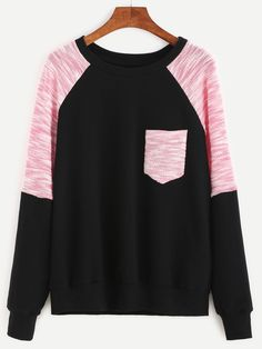 To find out about the Contrast Raglan Sleeve Mixed Media Sweatshirt at SHEIN, part of our latest Sweatshirts ready to shop online today! Raglan, Pullover, Vestidos Nancy, Moderne Outfits, Casual Outfits, Fashion Outfits, Sweatshirts Online, Mode Hijab, Celebrity Outfits