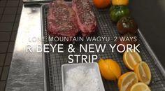 Ribeye and NY Strip Wagyu Steaks Grilled Two Ways Wagyu Ribeye, Gussied Up, Strip Steak, How To Grill Steak, Steak Recipes, Steaks, Grilling, Easy Meals, Mountain