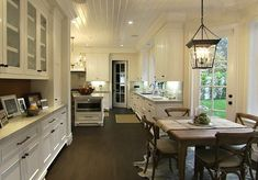 Style Network: Giuliana and Bill Rancic - Beautiful kitchen with glossy white beadboard ceiling ...