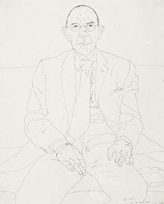 David Hockney 1960's, fine tip marker