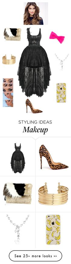 """""""K G T T S Y S D W G W"""" by queen-kaitlyn on Polyvore featuring Christian Louboutin, River Island, claire's, H&M and ULTA"""