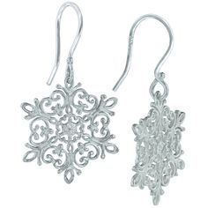 Southern Gate Sterling Silver Snowflake Earrings, theses fun earrings also have a matching necklace.