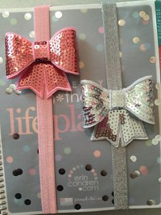 Hey, I found this really awesome Etsy listing at https://www.etsy.com/listing/220552203/sequin-bow-planner-band-erin-condren