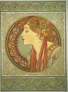 Alphonse Mucha  - 'Laurel' 1901 For the interior of the Boutique Fouquet.