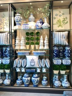 Being a designer for over 20 years I frequently source from Ballard Designs . the great brand started by Helen Ballard Weeks in Blue And White China, Blue China, Love Blue, Blue Rooms, White Rooms, Ballard Designs, Tile Murals, Chinoiserie Chic, Ginger Jars
