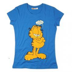 T-shirt damski Garfield kolor niebieski rozmiary S, M, L