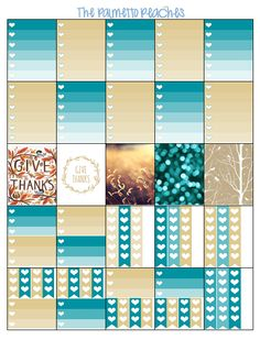 Free Printable November Planner Stickers from The Palmetto Peaches