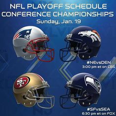 Today is the Conference Championship Playoffs. Who are you routing for  Are  you ready a33b98829