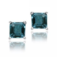 @Overstock - Basic and beautiful, these semi-precious earrings are the perfect size and color for everyday. Each earring features one square London blue topaz stone set into highly polished sterling silver.http://www.overstock.com/Jewelry-Watches/Glitzy-Rocks-Sterling-Silver-1-1-2ct-TGW-London-Blue-Topaz-Princess-Stud-Earrings/6191926/product.html?CID=214117 $20.49