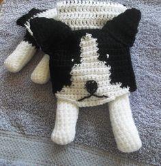 border collie dog crochet scarf by yasasii123 on Etsy, $30.00