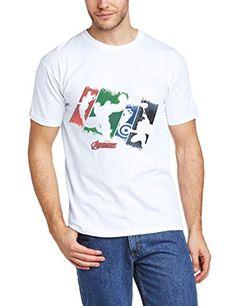 Marvel BILAA00054-WHITE - Camiseta de manga corta para hombre, color blanco, talla X-Large #camiseta #friki #moda #regalo