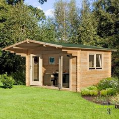 Garden Sheds Rutherglen hartwood 4m x 2.8m right sided hunningham log cabin - http://www