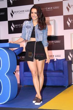 Shraddha Kapoor at the Launch Of Skechers Street Party on Nov 2017 Indian Actress Hot Pics, Bollywood Actress Hot Photos, Bollywood Girls, Beautiful Bollywood Actress, Most Beautiful Indian Actress, Indian Bollywood, Bollywood Actors, Bollywood Celebrities, Bollywood Fashion