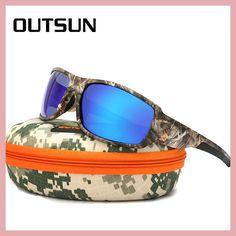 a3cb9560fe7 OUTSUN 2017 Polarized Sunglasses Men Women Sport fishing Driving Sun glasses  Brand Designer Camouflage Frame De