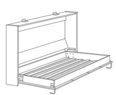 1000 images about lit escamotable on pinterest murphy - Ikea lit armoire escamotable ...