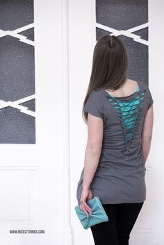 DIY: Cut Out Dress made of XL T-Shirt / Weaving, Upcycling, Do It Yourself Shirt. It's super easy!