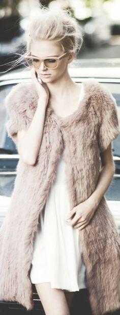 Blush and white