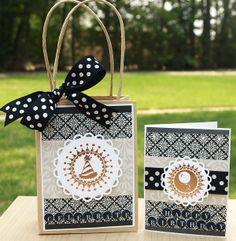 Mini Gift Bag and Matching Card by Kristine Berc