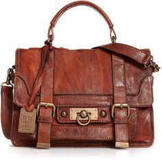 Frye Handbag, Cameron Small Satchel - Handbags & Accessories - Macy's (It's Indiana Jones-ish, love it) Satchel Handbags, Purses And Handbags, Leather Handbags, Leather Bag, Sac Michael Kors, Casual Chique, Mk Bags, Beautiful Bags, Purse Wallet