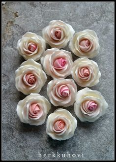 Sugar paste roses Sugar Paste, Roses, Flowers, Desserts, Plants, Food, Tailgate Desserts, Deserts, Pink